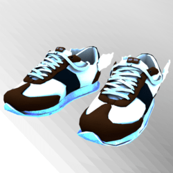 Messenger GlowInDark Blue Sneakers