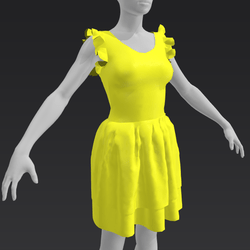 Ruffle Dress - Citrus
