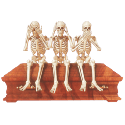 Three wise skeletons anim