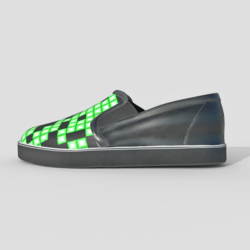 Slip-on Shoes Black Green Male