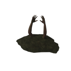 Zombie arms from ground [Animated]
