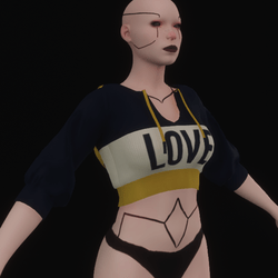 """""""LOVE"""" Yellow Short Sleeved Hoodie"""