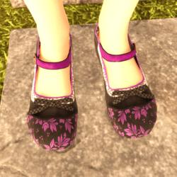 Mary-Jane Shoes Black Purple