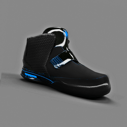 Sneakers Shoes Black Neon Blue