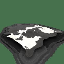 Cowhide Rug Black