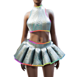Katy Perry Prismatic Dress Replica with animated glow