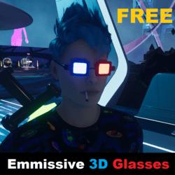 Emmissive 3D Glasses