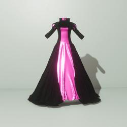 Queens Gown Black/Pink