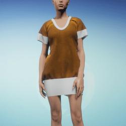Bibi dress Zest and White