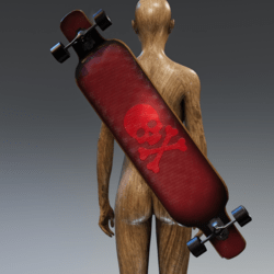 "LONG BOARD ""SKULLY"""
