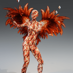 Lava Avatar with Hot Wings