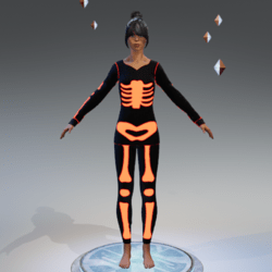 Skeleton orange