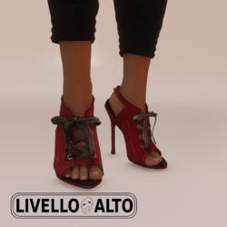 Savage Lace Crimson Heels