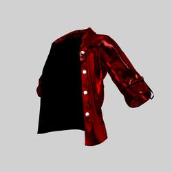 Ingrid Open Shirt Metal Red