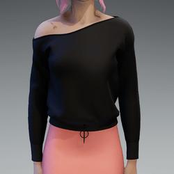 Basic Black Pullover oneshoulderfree