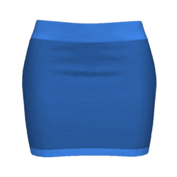 Woman Simple Skirt - Medium blue