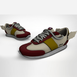 Messenger Sneakers Red
