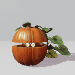 Animated halloween pumpkin