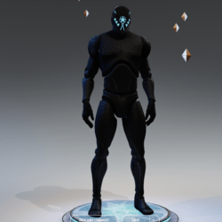 Avatar Mannequin black opaque with emissive Male