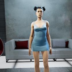 CLELIA strappy dress aqua