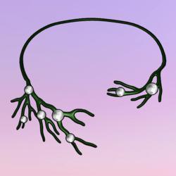 Bare Tree Choker wPearls Green-White