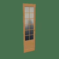 Scripted Narrow French Door