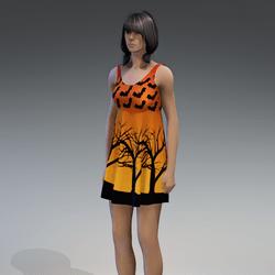 Dress Kassandra 2.0 halloween orange
