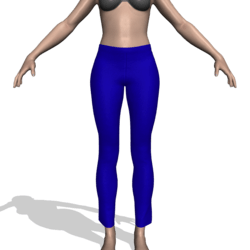 Pants w/Waistband & Hems (Medium Blue)