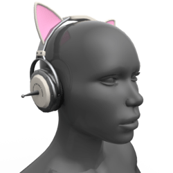 Headphones White-Pink (Head)