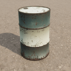 Oil Drum Metal Barrel  (Blue and White)