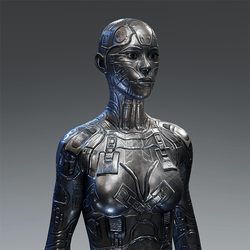 Android Body V3 for AV2 Silver