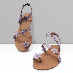 Ring toe sandals for Alina - purple