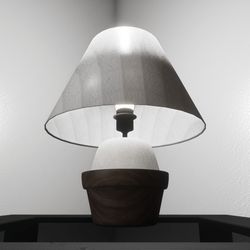 LAMP - WHITE FABRIC (CAN ADD SCRIPTS)