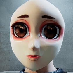 Anime chibi head RL (mask)