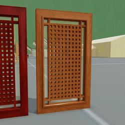 Lattice Door 01 Oak