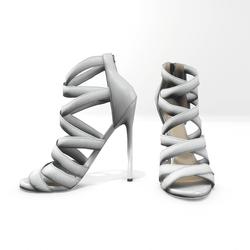 Strappy stiletto sandals for nicci - white