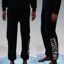 Black VR & chill Sweatpants for Men