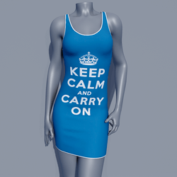 MPP - Keep Calm Dress - Carry On - Blue