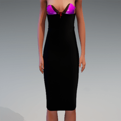 CORSETTED LYCRA PENCIL SKIRT