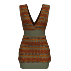 Tube Dress Deep Neck - Boho