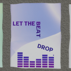 let the beat drop wall poster 2