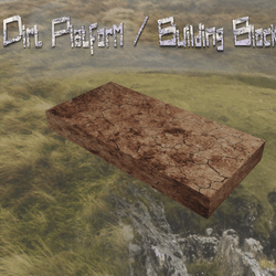 Dirt Platform / Building Block (rectangle)
