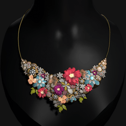 Flower Gem Nature Necklace