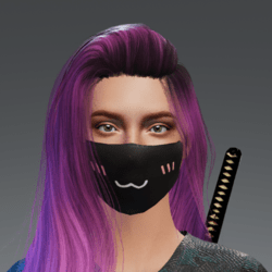 Shy Smile Mask
