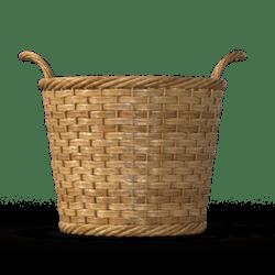 Light Brown wicker bushel