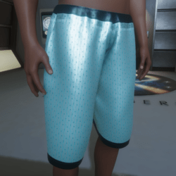 Bemuda shorts - metallic mint