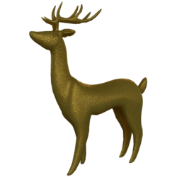 Christmas Deer with horns