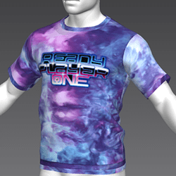 Ready Player One: Logo T-Shirt (Tiedye) (M)