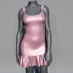 Glitter Party Dress - Pink Rose