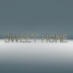 Sweet Home Marquee Blinking Sign
